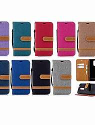 cheap -Case For LG LG K10 2018 / LG K10 (2017) / LG K10 Wallet / Card Holder / with Stand Full Body Cases Solid Colored Hard Textile / LG G6