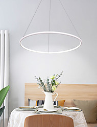 cheap -1-Light LED Circular Chandelier Ambient Light Painted Finishes Aluminum Aluminum Adjustable, Dimmable 110-120V / 220-240V Warm White / Cold White / Dimmable With Remote Control LED Light So