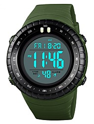 Недорогие -SKMEI Муж. Для пары Наручные часы электронные часы Цифровой Стеганная ПУ кожа Черный / Красный / Зеленый 50 m Защита от влаги Календарь Хронометр Цифровой Аналого-цифровые На каждый день Мода -