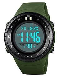 cheap -SKMEI Men's Couple's Wrist Watch Digital Watch Digital Casual Water Resistant / Waterproof Digital Analog - Digital Black Red Blue / Quilted PU Leather / Calendar / date / day / Stopwatch