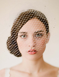 cheap -One-tier Vintage Style / Classic Style Wedding Veil Blusher Veils with Sparkling Glitter / Solid Tulle / Birdcage