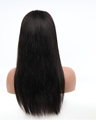 cheap -Unprocessed Human Hair Lace Front Wig Middle Part style Brazilian Hair Natural Straight Natural Wig 130% Density with Baby Hair Easy dressing 100% Virgin Unprocessed Women's Long Human Hair Lace Wig