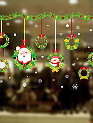 Недорогие -С цветами / Рождество 60 cm 45 cm Стикер на окна / обожаемый / Веселая Спальня / Для гостиной ПВХ