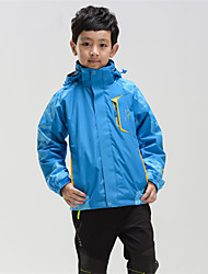cheap -Boys' Hiking 3-in-1 Jackets Hiking Jacket Winter Outdoor Camo Windproof Breathable Warm Ultra Light (UL) 3-in-1 Jacket Full Length Visible Zipper Camping / Hiking Hunting Outdoor Exercise Green / Blue