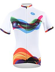 Недорогие -ILPALADINO Жен. С короткими рукавами Велокофты Оранжевый + белый + черный В полоску Большие размеры Велоспорт Джерси Верхняя часть Горные велосипеды Шоссейные велосипеды / Дышащий / Быстровысыхающий