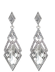 cheap -Women's Drop Earrings Hanging Earrings Classic Long Solitaire Pear Ladies Elegant Elizabeth Locke Rhinestone Earrings Jewelry White / Black For Wedding Engagement Daily Masquerade Engagement Party