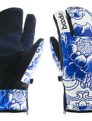 cheap -Ski Gloves Men's Women's Snowsports Full Finger Gloves Winter Waterproof Windproof Warm Leatherette Polyester 100% Polyester Ski / Snowboard