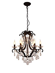 cheap -JLYLITE 6-Light 60 cm Candle Style Chandelier Metal Candle-style Painted Finishes Retro / Traditional / Classic 110-120V / 220-240V