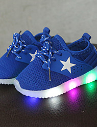cheap -Boys' / Girls' LED / Comfort / LED Shoes Mesh Sneakers Lace-up / LED Black / Pink / Blue Spring &  Fall