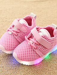 cheap -Girls' LED / Comfort / LED Shoes Mesh Sneakers Toddler(9m-4ys) / Little Kids(4-7ys) Hook & Loop / LED White / Black / Pink Spring &  Fall