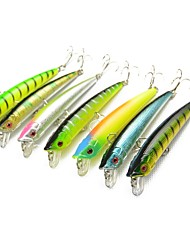 cheap -7 pcs Minnow Fishing Lures Hard Bait Wear-Resistant Easy Install Wearproof Sinking Bass Trout Pike Sea Fishing Bait Casting Spinning Plastic Carbon Steel Alloy / Carp Fishing / Lure Fishing