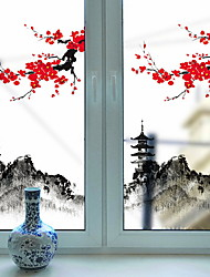 cheap -Window Film & Stickers Decoration Artistic / Retro / Classical Floral PVC(PolyVinyl Chloride) New Design / Cool