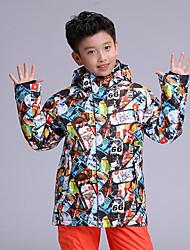 cheap -GSOU SNOW Boys' Ski Jacket Ski / Snowboard Winter Sports Waterproof Windproof Warm POLY Top Ski Wear / Kid's