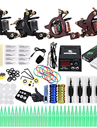 cheap -Solong Tattoo Professional Tattoo Kit Tattoo Machine - 4 pcs Tattoo Machines, Professional LCD power supply 4 alloy machine liner & shader