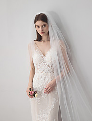 cheap -One-tier Vintage Style / Classic Style Wedding Veil Chapel Veils with Solid 137.8 in (350cm) Tulle