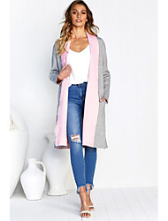 cheap -Women's Basic Long Kimono Jacket - Solid Colored, Patchwork