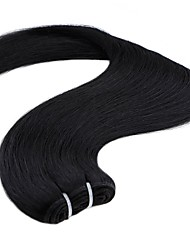 cheap -1 Bundle Indian Hair Straight Human Hair Weave 20 inch Dark Brown Blonde Human Hair Weaves Odor Free Women Extention Human Hair Extensions / 8A