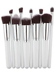 cheap -Professional Makeup Brushes Makeup Brush Set 10pcs Professional Synthetic Hair Wooden / Bamboo for Eyeliner Brush Blush Brush Foundation Brush Lip Brush Eyebrow Brush Eyeshadow Brush Concealer Brush