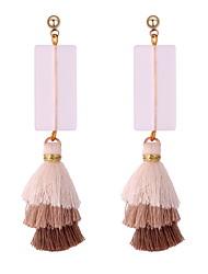 cheap -Women's Drop Earrings Tassel Long Creative Spike Ladies Tassel Boho Earrings Jewelry Pink / Light Blue / Dark Navy For Evening Party Carnival 1 Pair