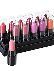 abordables -12 pcs 12 couleurs Maquillage Quotidien Rouges à Lèvres Etanche / Hydratation / Longue Durée Maquillage Cosmétique Accessoires de Toilettage