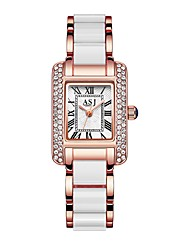 cheap -ASJ Women's Luxury Watches Dress Watch Wrist Watch Japanese Quartz Stainless Steel Silver / Rose Gold 30 m Water Resistant / Waterproof Casual Watch Cool Analog Ladies Casual Fashion - Silver Rose