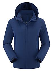 cheap -Men's Hoodie Jacket Hiking Jacket Winter Outdoor Rain Waterproof Fast Dry Quick Dry Breathability Jacket Top Elastane Single Slider Camping / Hiking Outdoor Exercise Camping / Hiking / Caving Black