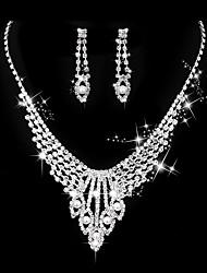 abordables -Femme Collier Classique Créatif Doux Mode Elégant Imitation de perle Des boucles d'oreilles Bijoux Argent Pour Mariage Soirée 1 set
