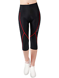 cheap -WOSAWE Women's Unisex Cycling Padded Shorts Bike Shorts 3/4 Tights Pants Breathable 3D Pad Quick Dry Sports Polyester Spandex Red black Mountain Bike MTB Road Bike Cycling Clothing Apparel Advanced