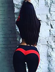Недорогие -Жен. С высокой талией Пэчворк Штаны для йоги Контрастных цветов Zumba Бег Фитнес Леггинсы Спортивная одежда Подтяжка Утягивание живота Для тренировки Power Flex 4-сторонняя растяжка Эластичность