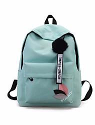 cheap -School Bag / Commuter Backpack Women's Canvas Sashes / Ribbons Zipper Daily / School Black / Blushing Pink / Green / Gray
