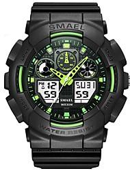 Недорогие -SMAEL Муж. Спортивные часы электронные часы Японский Цифровой Черный 50 m Защита от влаги Календарь Хронометр Аналоговый Мода - Зеленый Синий / Фосфоресцирующий