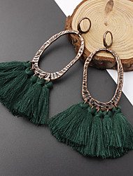 cheap -Women's Drop Earrings Hanging Earrings Tassel Ladies Vintage European Fashion Earrings Jewelry Wine / Light Blue / Dark Green For Causal Daily 1 Pair