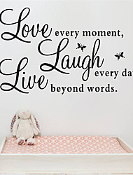 cheap -Characters Wall Stickers Words & Quotes Wall Stickers Decorative Wall Stickers, PVC Home Decoration Wall Decal Wall Decoration 1pc / Washable / Removable