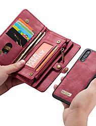 cheap -CaseMe Case For Huawei P20 Pro / P20 lite Wallet / Card Holder / Flip Full Body Cases Solid Colored Hard PU Leather for Huawei P20 / Huawei P20 Pro / Huawei P20 lite