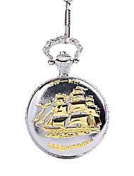 cheap -Men's Couple's Pocket Watch Quartz Silver Casual Watch Cool Analog Vintage Casual - Gold