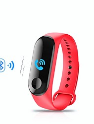 cheap -M3 Smart Wristband Bluetooth Fitness Tracker Support Notification/ Heart Rate Monitor Sports Waterproof Smartwatch for iPhone/ Samsung/ Android Phones