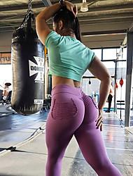 cheap -Women's High Waist Yoga Pants Leggings Butt Lift 4 Way Stretch Black Dark Gray Royal Blue Zumba Gym Workout Running Sports Activewear Stretchy Skinny Slim