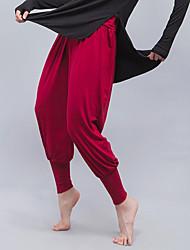 Недорогие -Жен. Гарем Штаны для йоги Сплошной цвет Модал Zumba Бег Танцы Нижняя часть Спортивная одежда Легкость Дышащий Мягкий 4-сторонняя растяжка Эластичная Свободный силуэт