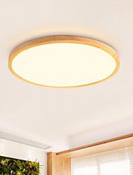 cheap -1-Light 30 cm Flush Mount Lights Wood Bamboo Wood Bamboo Circle Wood Contemporary LED 220-240V