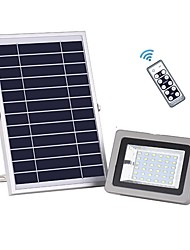 cheap -1pc 18W Solar Flood Light Remote Control Waterproof Outdoor Security Light with 36 LED for Garage Yard Garden Lawn Basketball Court