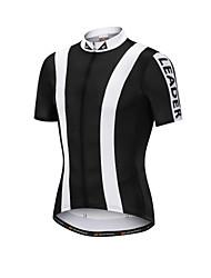 cheap -Nuckily Men's Short Sleeve Cycling Jersey Polyester Elastane Black Bike Jersey Top Mountain Bike MTB Road Bike Cycling Breathable Quick Dry Sports Clothing Apparel / SBS Zipper
