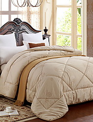 cheap -Comfortable - 1pc Comforter Winter White Goose Down Solid Colored / Quilted