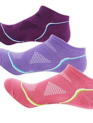 cheap -Running Socks Hiking Socks Athletic Sports Socks Low Ankle Socks 3 Pairs Lightweight Stretchy Fashion Cotton Spring for Women's Outdoor Exercise Cycling / Bike Purple / Winter / Winter