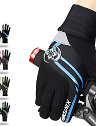 cheap -Winter Bike Gloves / Cycling Gloves Mountain Bike Gloves Mountain Bike MTB Thermal / Warm Touch Screen Breathable Padded Full Finger Gloves Touch Screen Gloves Sports Gloves Lycra Mesh Terry Cloth