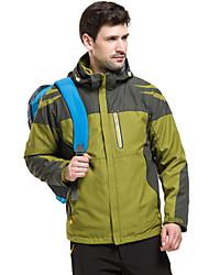 cheap -Men's Hoodie Jacket Hiking 3-in-1 Jackets Hiking Jacket Winter Outdoor Waterproof Windproof Breathable Rain Waterproof 3-in-1 Jacket Top Single Slider Camping / Hiking Hunting Ski / Snowboard Orange
