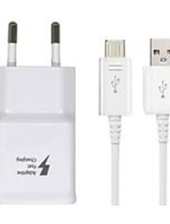 cheap -Portable Charger USB Charger EU Plug with Cable 1 USB Port 2.1 A 100~240 V for