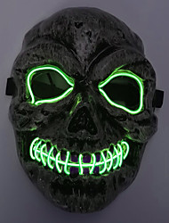 cheap -BRELONG Horror Cold Light Glowing Mask Funny Mask for Cosplay Party Night Party Costume Dress Up 1 pc