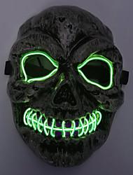 Недорогие -Брелонг Хэллоуин ужас призрак череп холодный свет светящаяся маска 1 шт