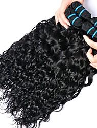 cheap -4 Bundles Peruvian Hair Water Wave Human Hair Natural Color Hair Weaves / Hair Bulk Bundle Hair Human Hair Extensions 8-28 inch Natural Color Human Hair Weaves Women Extention Best Quality Human Hair