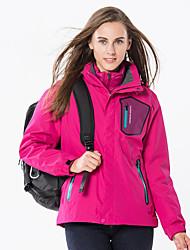 cheap -Women's Hiking Down Jacket Hiking 3-in-1 Jackets Winter Outdoor Waterproof Windproof Rain Waterproof Detachable Cap Down Down Jacket 3-in-1 Jacket Ski / Snowboard Climbing Camping / Hiking / Caving